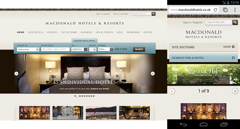 MacDonald Hotels screenshot